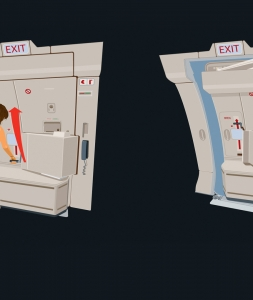Airline Emergency Exit Diagram