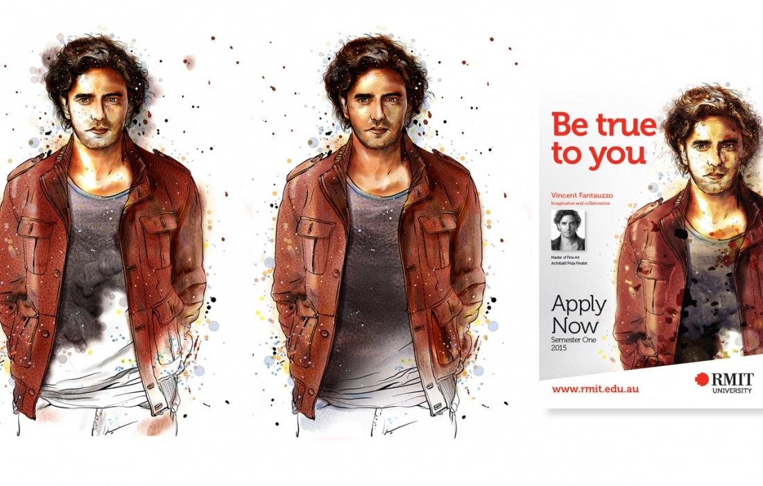 RMIT Illustration for Television & Print Campaign