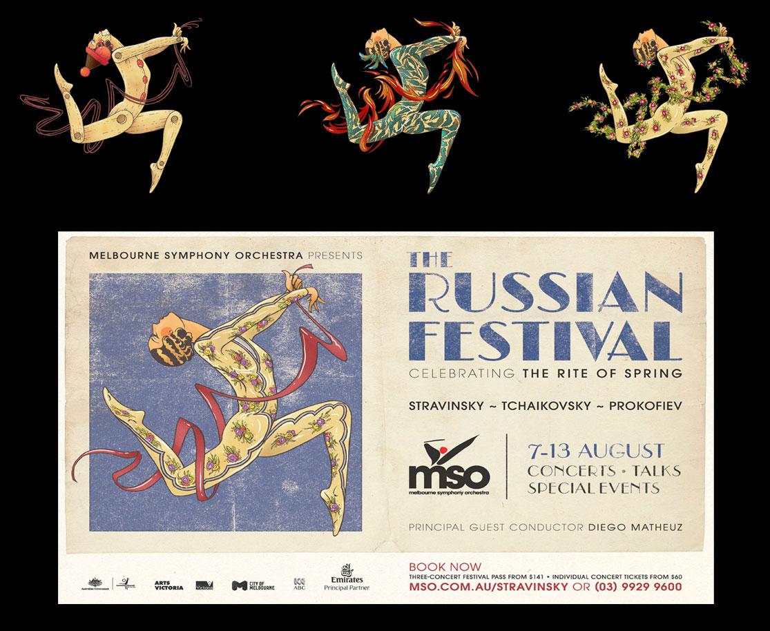 Russian Festival Illustration